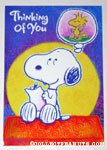 Snoopy & Woodstock Thinking of You Greeting Card