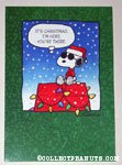 Joe Cool on Doghouse Christmas Card