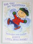 Charlie Brown Snow Angel Christmas Card
