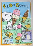 Snoopy & Woodstock with Ice Cream 'Grandpa' Birthday Greeting Card