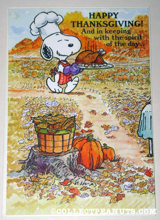 Peanuts Thanksgiving Cards