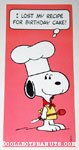 Snoopy Chef Birthday Greeting Card