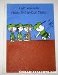 Peanuts gang playing baseball Get Well Greeting Card