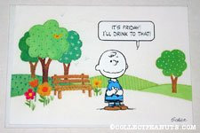Charlie Brown 'It's Friday' Greeting Card