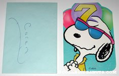 Snoopy Joe Cool '7' Birthday Greeting Card