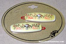 Snoopy holding flowers Barrette