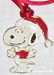 Snoopy as Santa Necklace