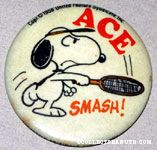 Snoopy playing Tennis 'Ace' Button