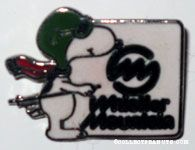Flying Ace on skiis 'Whistler Mountain' Pin