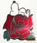 Snoopy – Heart & Flower Aviva Pins