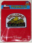 Woodstock with pumpkins 'Welcome to our home' Favorite Things Pin