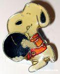 Snoopy bowler Pin