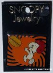 Snoopy catching football Pin