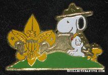 Snoopy & Woodstock boyscout? Pin