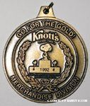 Knott's Berry Farm Merchandise Division Go for the Gold Medallion