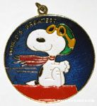 Flying Ace on Doghouse Necklace