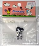Snoopy sitting on stool silver-tone Pin
