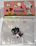 Snoopy wearing bowler hat silver-tone Pin