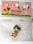 Snoopy sitting on stool gold-tone Pin