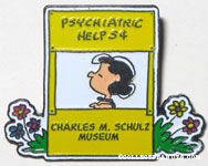 Lucy Doctor's Booth Charles M. Schulz Museum Pin