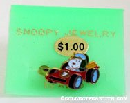 Snoopy driving racecar Ring