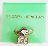 Snoopy riding bike Ring