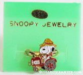 Snoopy farmer driving tractor Ring