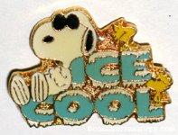 Snoopy Joe Cool & Woodstock 'Ice Cool' Pin