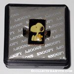 Snoopy & Woodstock sitting Black Ring