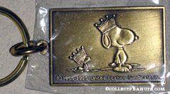 Snoopy & Woodstock wearing crowns Metal Keychain