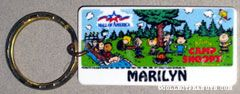 Peanuts Gang camping Keychain