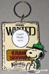 Beaglescout Snoopy with Wanted Sign photo frame Keychain