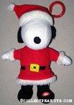 Plush Santa Snoopy with Clip