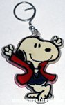 Snoopy dancing in red suit Keychain