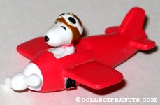Snoopy Flying Ace in Plane Keychain