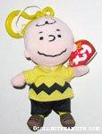 Charlie Brown Plush Bag Clip Keychain