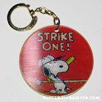 Snoopy Striking out Flasher Keychain