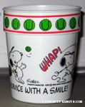 Snoopy playing Tennis 'There's nothing like service with a smile' Cup