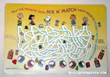 Peanuts Skippy Peanut Butter Activity Placemat