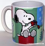 Snoopy holding Christmas Gift Mug