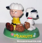 Charlie Brown & Snoopy Baseball Salt and Pepper Shakers