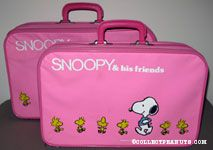 Snoopy and Woodstock walking Suitcase