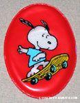 Snoopy on Skateboard oval Magnet