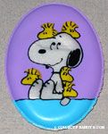 Snoopy with hiding Woodstocks Magnet