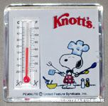 Chef Snoopy Thermometer Knott's Magnet