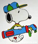 Golfing Snoopy Magnet