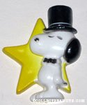 Snoopy in top hat with star Magnet