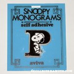 Snoopy with letter P Plastic Monogram