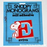 Snoopy with letter E Plastic Monogram