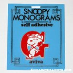 Snoopy with letter G Plastic Monogram